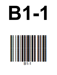 Example of what a generated location label looks like.